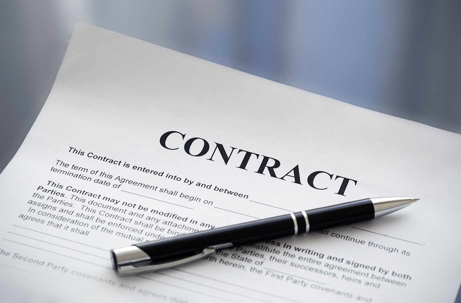 example booking contract