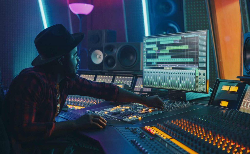 recording demo in the studio