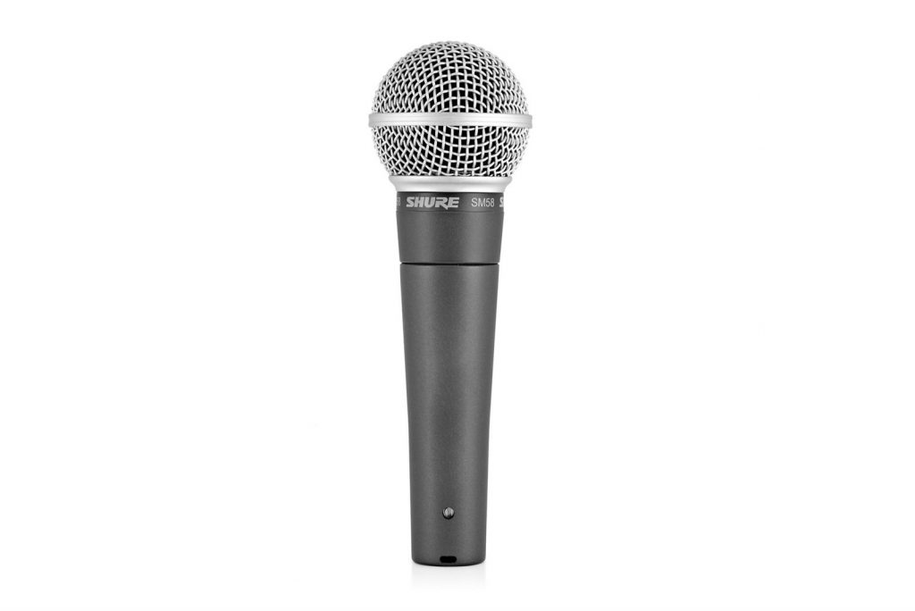 Shure sm58 - popular microphone for live vocals